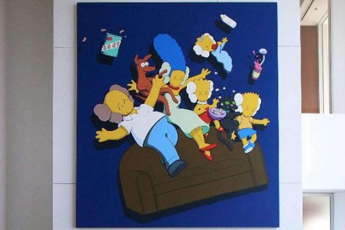 "Nigo's The Simpsons Inspired KAWS ""Kimpsons"" Painting"