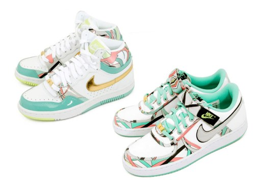 "Nike Womens Court Force Hi & Vandal Low ""Pucci"" Pack"