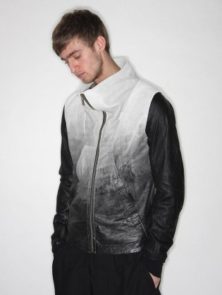 Rick Owens Funnell Tyvek Leather Jacket