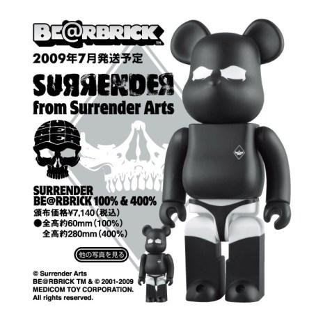 Surrender x Medicom Toy 100% & 400% Bearbrick