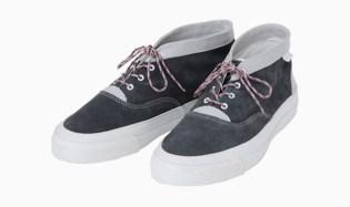 White Mountaineering Suede Hi-Cut Decker Sneakers