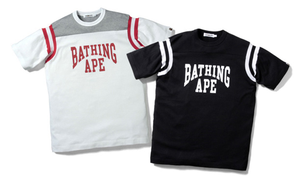 A Bathing Ape Football Jersey Tees