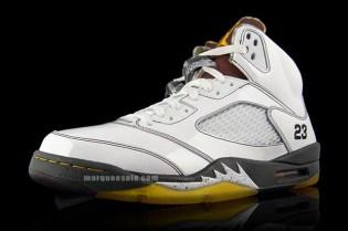 Air Jordan V White Patent/Dark Army - A Closer Look