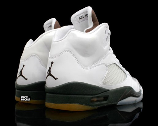Air Jordan V White Patent/Dark Army