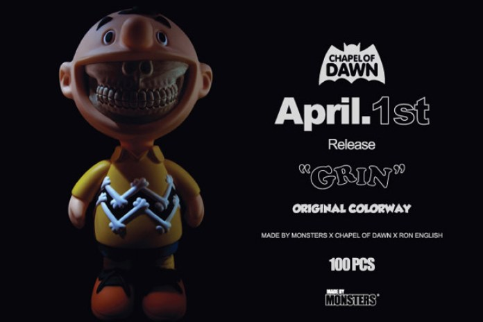 "CHAPEL OF DAWN x Made by Monsters x Ron English ""Grin"" Toy"
