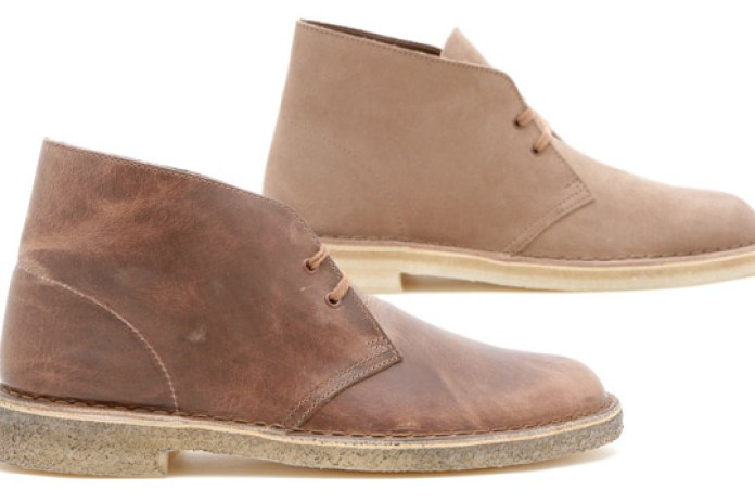Clarks Desert Suede Wolf | Leather Taupe Boots