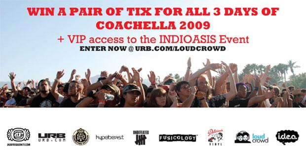 Loudcrowd & URB Magazine | Win Free Tickets to Coachella 2009 Contest