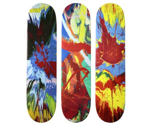 Damien Hirst for Supreme Skate Decks