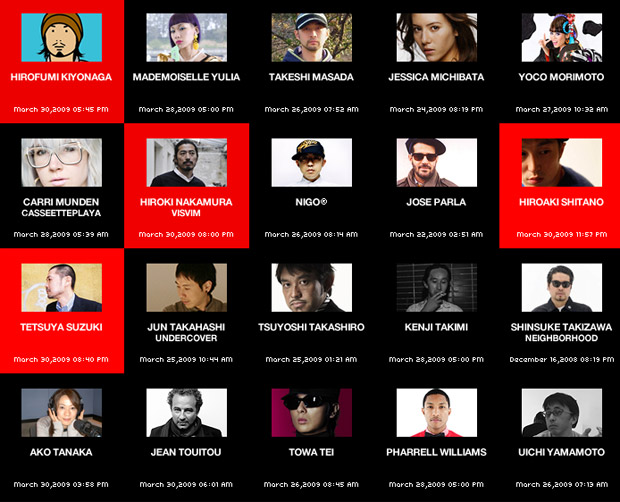 Honeyee Updates New Blogroll - Pharrell Williams, Mademoiselle Yulia & More