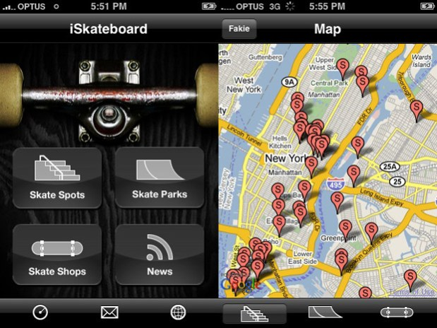 iSkateboard iPhone App