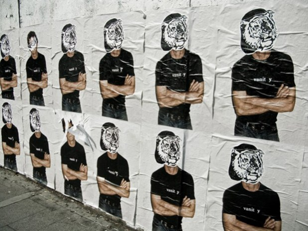 Supreme Lou Reed Posters Defaced
