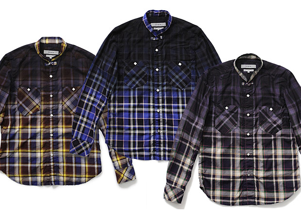 nonnative Half Dyed Twill Check Cowboy Shirt