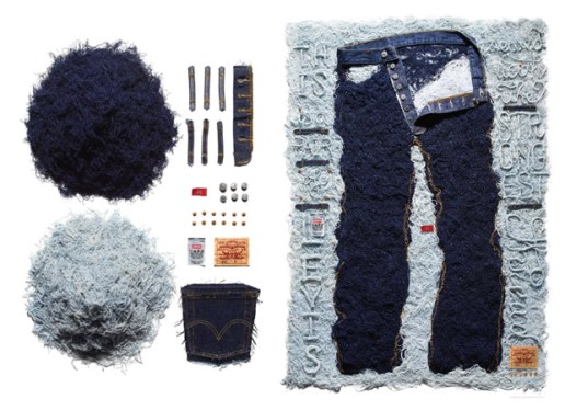 Sagmeister x Levi's 501 Art Installation for American Rag
