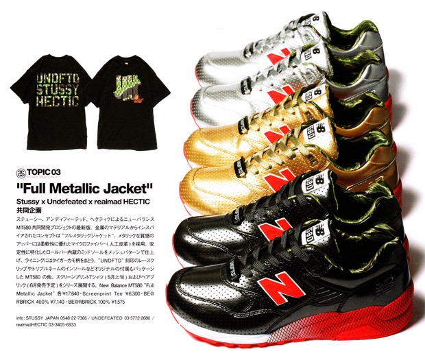 "Stussy x Undefeated x realmad HECTIC ""Full Metallic Jacket"" New Balance MT580"