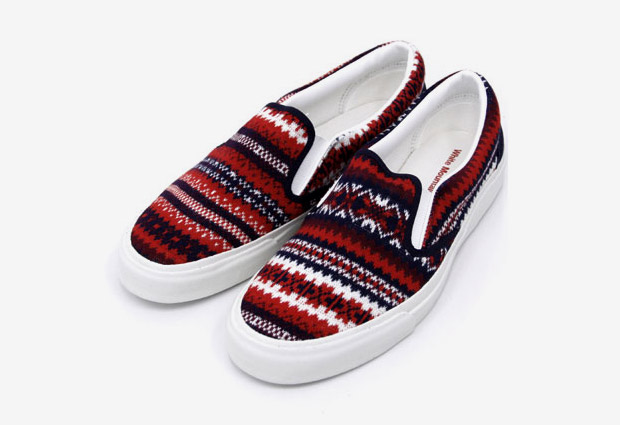 White Mountaineering Cotton Linen Jacquard Slip-On
