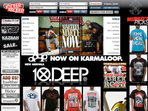 10Deep Takes Over Karmaloop
