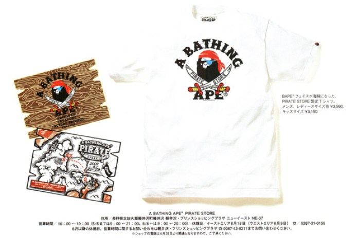 A Bathing Ape Pirate Store T-shirt