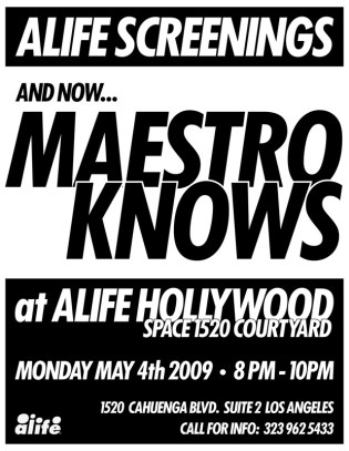 "ALIFE Screenings Presents ""Maestro Knows"""