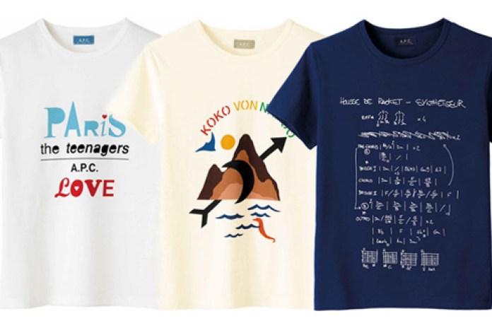 A.P.C. Band Tee Collection