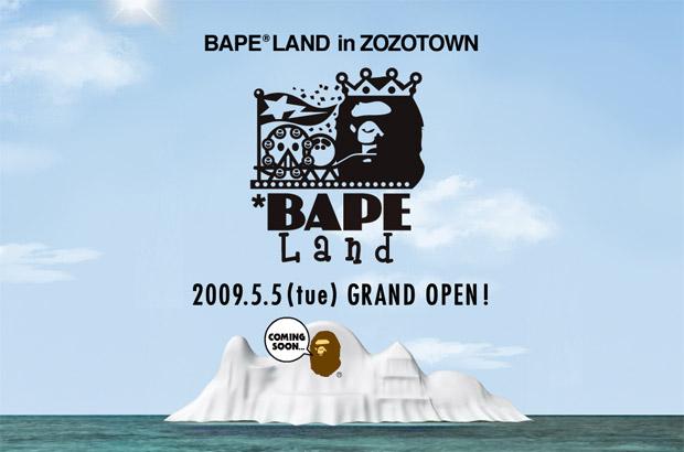 Bape Land Opening on Zozotown
