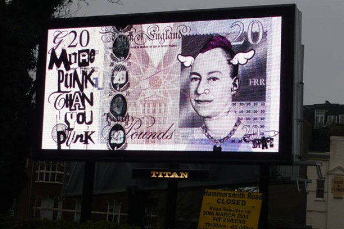 D*Face Billboard at G20 Summit in London