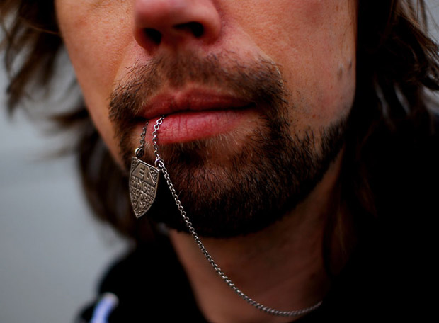 Ed Banger Records Silver Necklace
