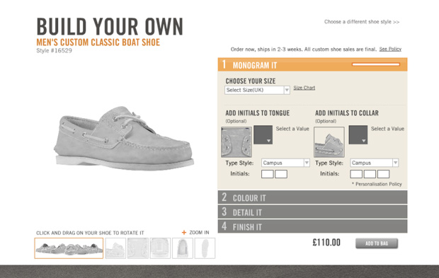 """Timberland """"Build Your Own"""" Boat Shoe"""