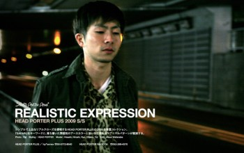 """Head Porter Plus 2009 Spring/Summer """"Realistic Expression"""" Collection"""