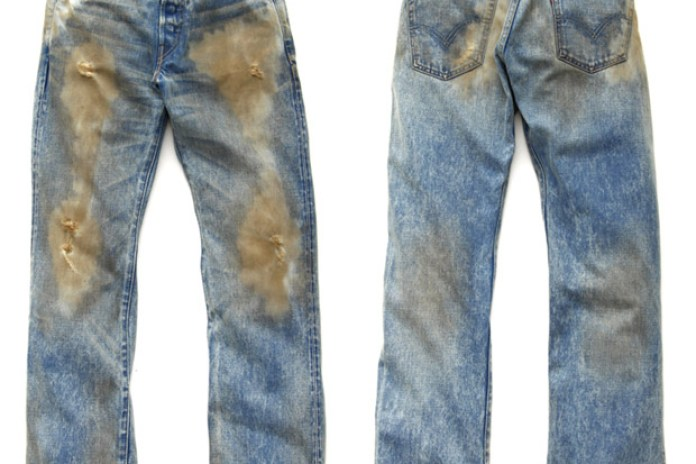 Levi's 501XX 1947 Distressed Denim
