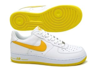 Nike Air Force 1 White/Varsity Maize Colorway
