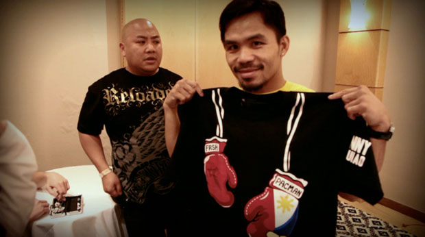 "Manny Pacquiao x Pound 4 Pound International x FRSH ""Official Team Pac Man"" Tee"