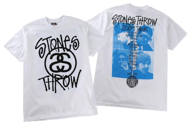 Stones Throw Records x Stussy 2009 Tour T-Shirts