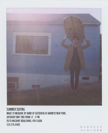 Summer Suiting Made to Measure by Band of Outsiders at Barneys New York