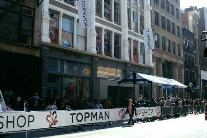 TOPSHOP (TOPMAN) NYC Opening