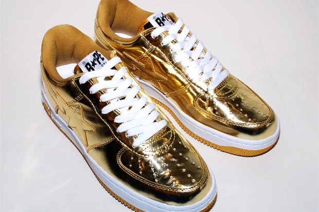 A Bathing Ape Metallic Bapesta