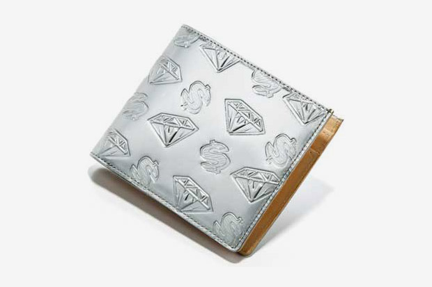 BBC Metallic Silver Diamonds & Dollars Belt | Wallet