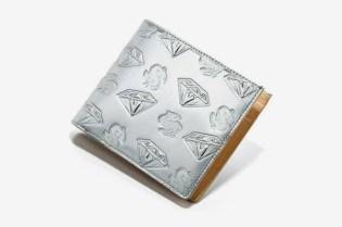 BBC Metallic Silver Diamonds & Dollars Belt | Wallet