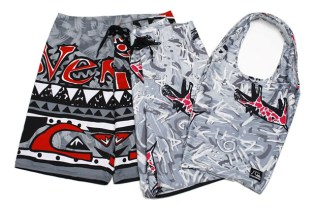 Beauty & Youth x Quiksilver Board Shorts & Tote