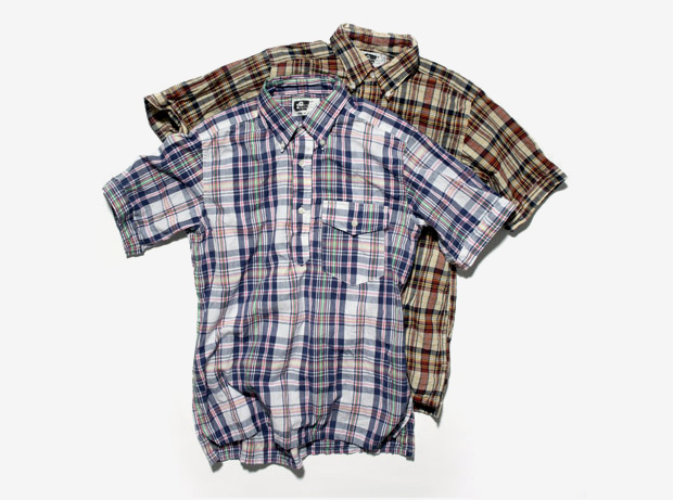 Engineered Garments Pull-Over Madras Button Shirts