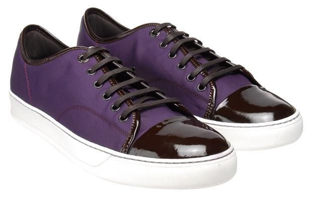 Lanvin Nylon Trainer Purple/Brown