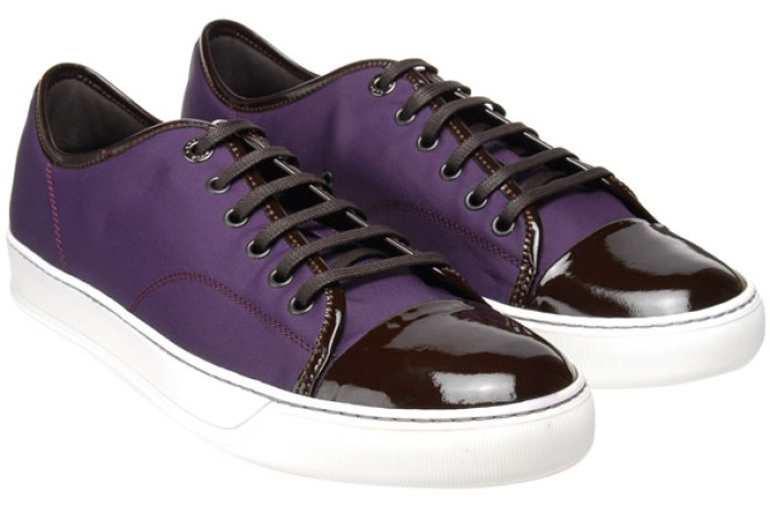 Lanvin Nylon Trainer Purple/Brown