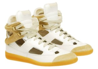 Maison Martin Margiela Cut-Out Suede High-Top Sneaker