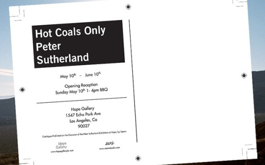 "Peter Sutherland ""Hot Coals Only"" Exhibition"
