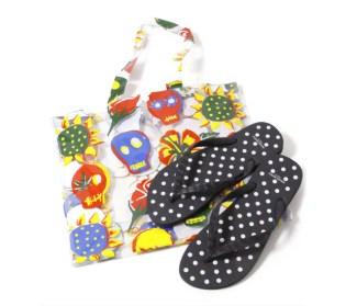 Wacko Maria Beach Dot Flip-flops