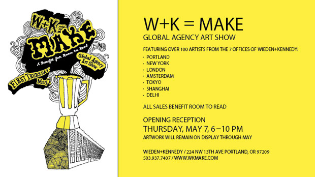 W+K = MAKE Global Agency Art Show