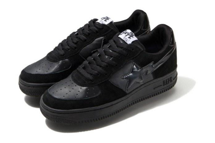A Bathing Ape Bapesta Black Tonal Sneakers