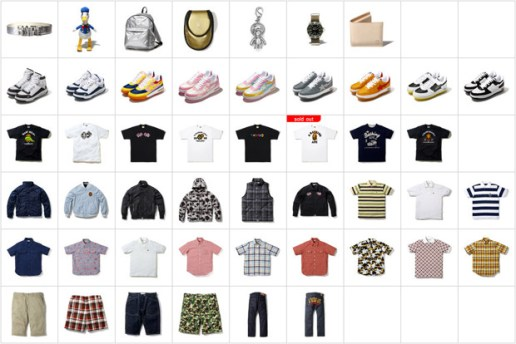 A Bathing Ape US Online Store Now Open