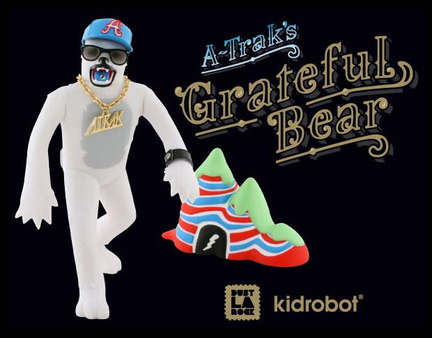 A-Trak x Dust Larock x Kid Robot Grateful Bear Toy