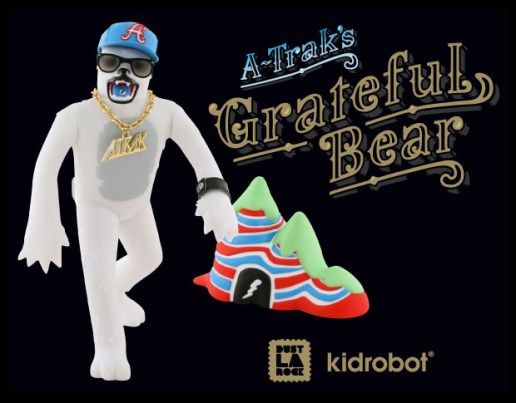 A-Trak x Dust Larock x Kid Robot Grateful Bear Toy