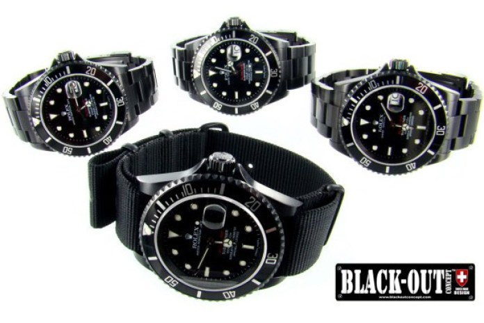 Black-Out Concept Custom Watches